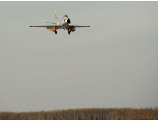 F86 Sabre On Approach To Cold Lake Alberta Wallpaper