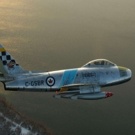 F86 Sabre Over Cold Lake Alberta Wallpaper