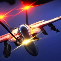 Fa 18 Night Air Refuel Wallpaper
