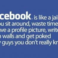 Facebook Is Like Jail Cover