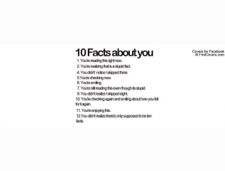 Facts About You Cover