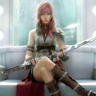 Ffxiii Lightning In Orphans Cradle Wallpaper