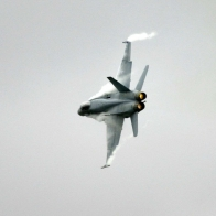 Fighter Jet Banking In A Turn Wallpaper