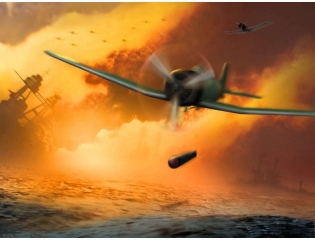 Fighter Plane In Action Wallpaper