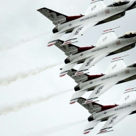 Fighting Falcon Aviation Thunderbirds Squadron Formation Flying Wallpaper