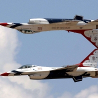 Fighting Falcon Jet Aircraft Thunderbirds Squadron Wallpaper