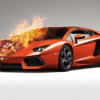 Fire Lamborghini Wallpaper