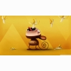 Funny Monkey Eating Bananas Wallpaper