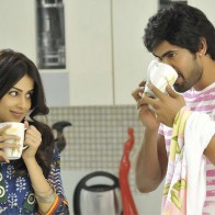 Genelia Dsouza And Rana Daggubati Drinking Coffee