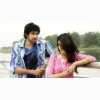 Genelia Dsouza And Rana Daggubati Standing On Bridge In Naa Ishtam