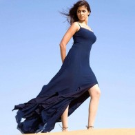 Genelia Dsouza In Blue Wallpaper