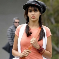 Genelia Dsouza In Orange Dress And Cap