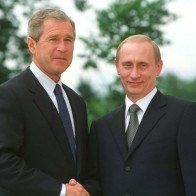 George Bush And Vladimir Putin