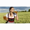 German Woman Drinking Beer Wallpaper