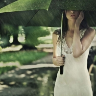 Girl In Rain With Umbrella Hd Wallpapers
