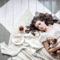 Girl Lying With Teddy Hd Wallpapers