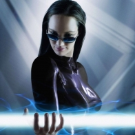 Girl Robot Glasses Brunette