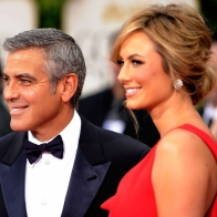 Golden Globes George Clooney Stacy Keibler Wallpapers