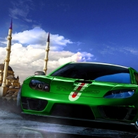Green Sport Car Wallpaper