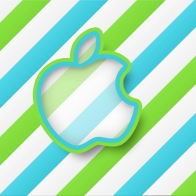 Green Stripes Apple Hd Wallpapers