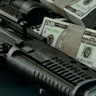 Gun And Money Wallpaper