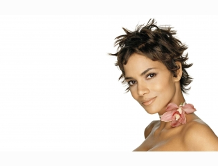 Halle Berry With Flower Wallpaper