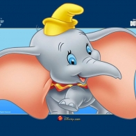 Happy Dumbo Wallpaper