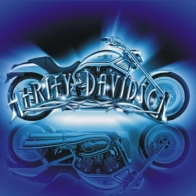 Harley Davidson Blue Wallpaper