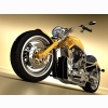 Harley Davidson Chopper Yellow