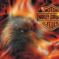 Harley Davidson Fire Eagle Wallpaper