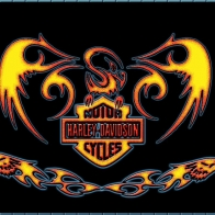 Harley Davidson Fire Wallpaper