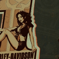 Harley Davidson Pin Up Girl Wallpaper