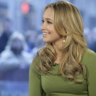 Hayden Panettiere Green Shirt Wallpaper