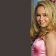 Hayden Panettiere Pink Dress Wallpaper