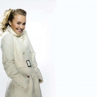 Hayden Panettiere White Coat Wallpaper Wallpapers