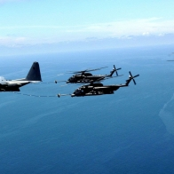 Helicopters Refueling