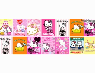 Hello Kitty Collage Cover