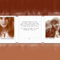 Hermione Ron Wallpaper