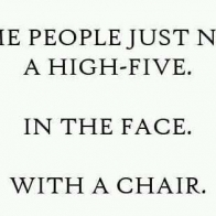 High Five With A Chair Cover