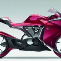 Hond Red Motorbike Wallpaper