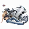 Hot Babe And Street Bike Wallpaper