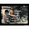 Hot Babe Custom Bike Wallpaper