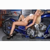Hot Babe On Wheels Wallpaper