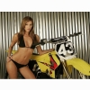 Hot Chick Bike Model Wallpaper 101