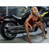 Hot Chick Bike Model Wallpaper 103