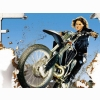 Hot Chick Bike Model Wallpaper 108