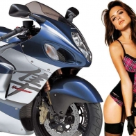 Hot Chick Bike Model Wallpaper 11