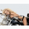 Hot Chick Bike Model Wallpaper 12