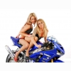 Hot Chick Bike Model Wallpaper 13