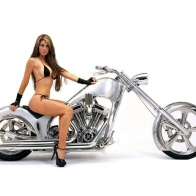Hot Chick Bike Model Wallpaper 162